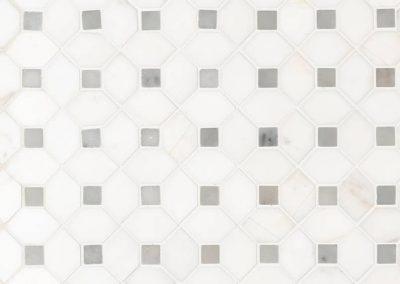 Bianco Dolomite Dotty Polished Kitchen Backsplash Subway Tile