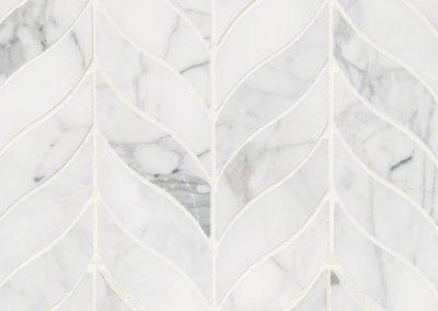 Calacatta Cressa Leaf Pattern Honed Kitchen Backsplash Subway Tile