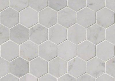 Carrara White Hexagon Kitchen Backsplash Tile