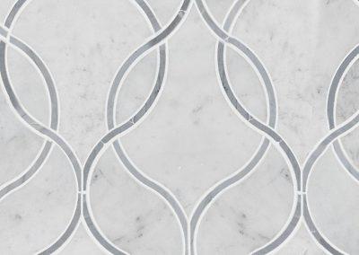 Carrara White Ellipsis Kitchen Backsplash Tile