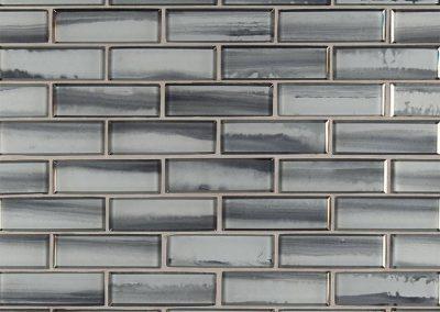 Ombre Grigia Kitchen Backsplash Subway Tile