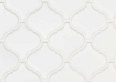 Retro Bianco Arabesque 6mm Matte Kitchen Backsplash Tile