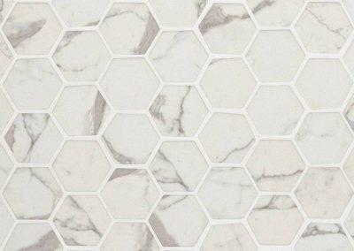 Statuario Celano Hexagon 6mm Kitchen Backsplash Tile