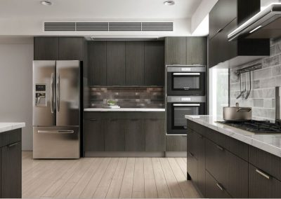 Brown Oak European Kitchen Cabinets in Colorado Springs