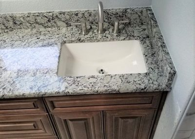 Bianco Frost Granite Kitchen Countertop