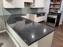Steel Gray Granite Kitchen Countertop