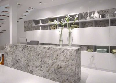 Salinas White Granite Kitchen Countertop