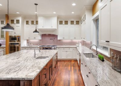 White Valley Granite Kitchen Countertop