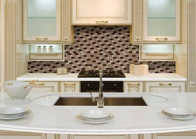 Blanca Statuarietto Quartz Kitchen Countertops in Colorado Springs