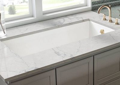 Calacatta Lago Quartz Kitchen Countertop