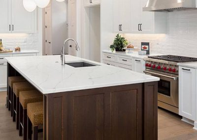 Calacatta Ultra Quartz Kitchen Countertop