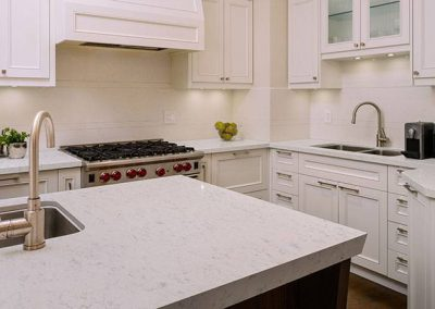 Carrara Lumos Quartz Kitchen Countertop