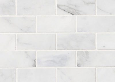 Calacatta Cressa White Kitchen Backsplash Subway Tile