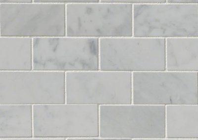 Carrara White Polished Kitchen Backsplash Subway Tile