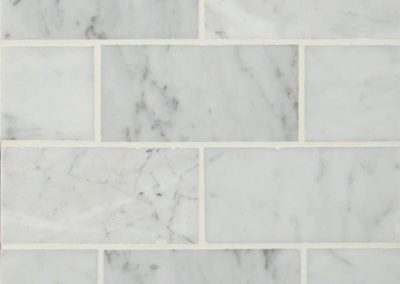 Carrara White 3x6 Kitchen Backsplash Subway Tile