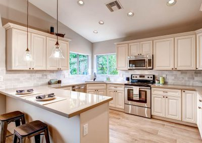Antique White Traditional Kitchen Cabinets in Colorado Springs