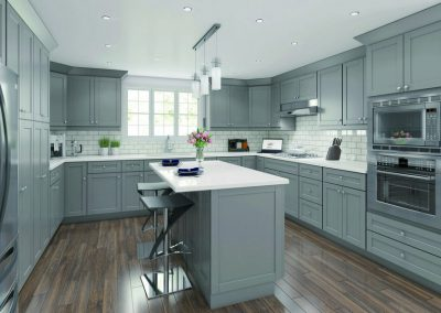 Ash Gray Traditional Kitchen Cabinets in Colorado Springs
