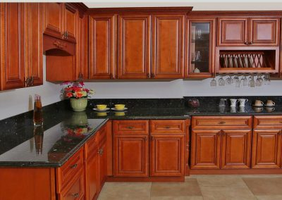 Mocha Rope Traditional Kitchen Cabinets in Colorado Springs