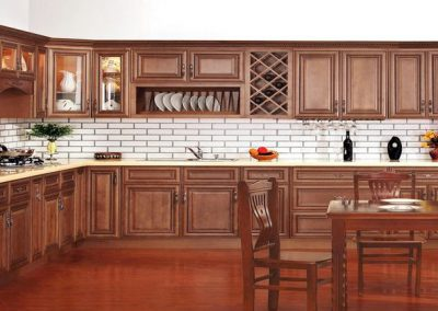Pecan Rope Traditional Kitchen Cabinets in Colorado Springs
